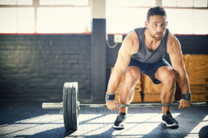 Low back pain injury after deadlifting